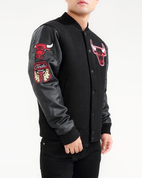 Pro Standard NBA Chicago Bulls Logo Varsity Jacket Black