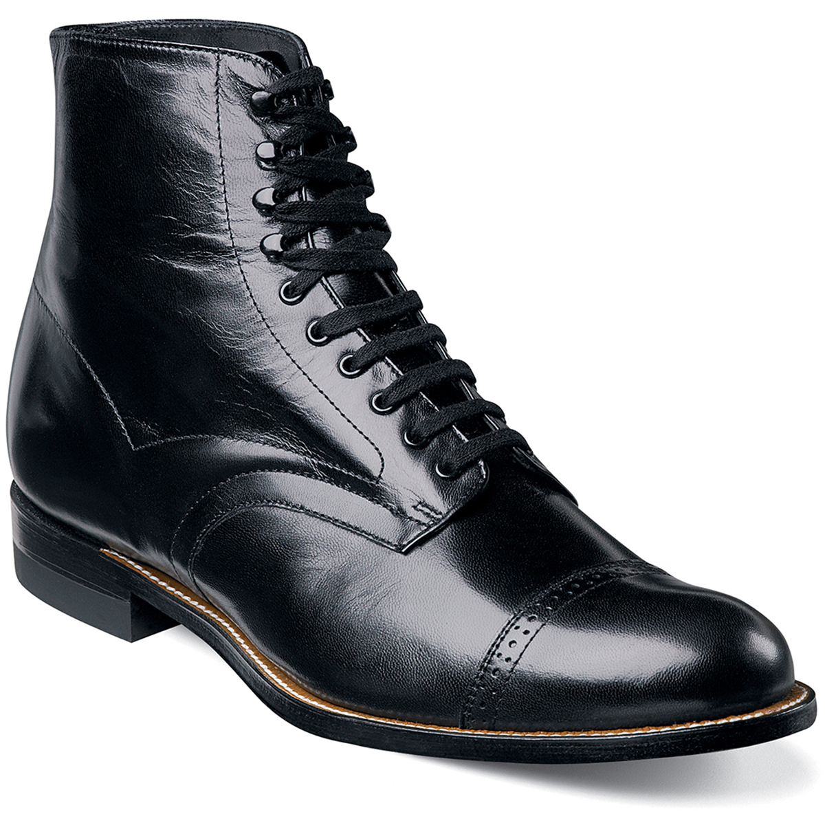 Stacy Adams Madison Leather High Top Cap Toe Boot