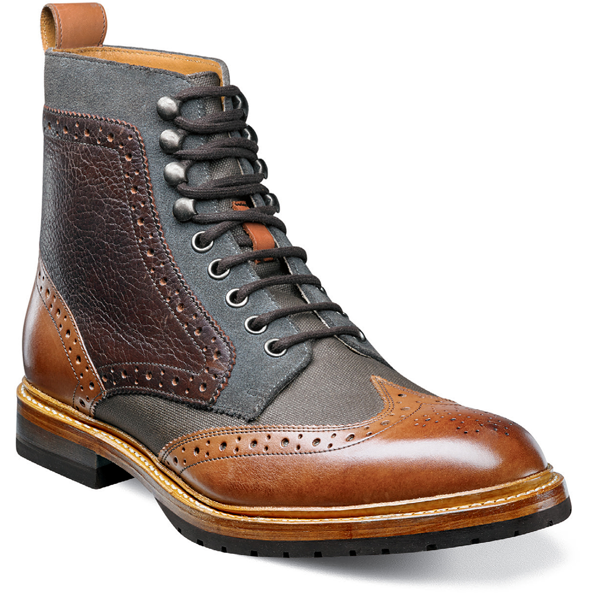 Stacy Adams Madison II Contrast Wingtip Boot Multi