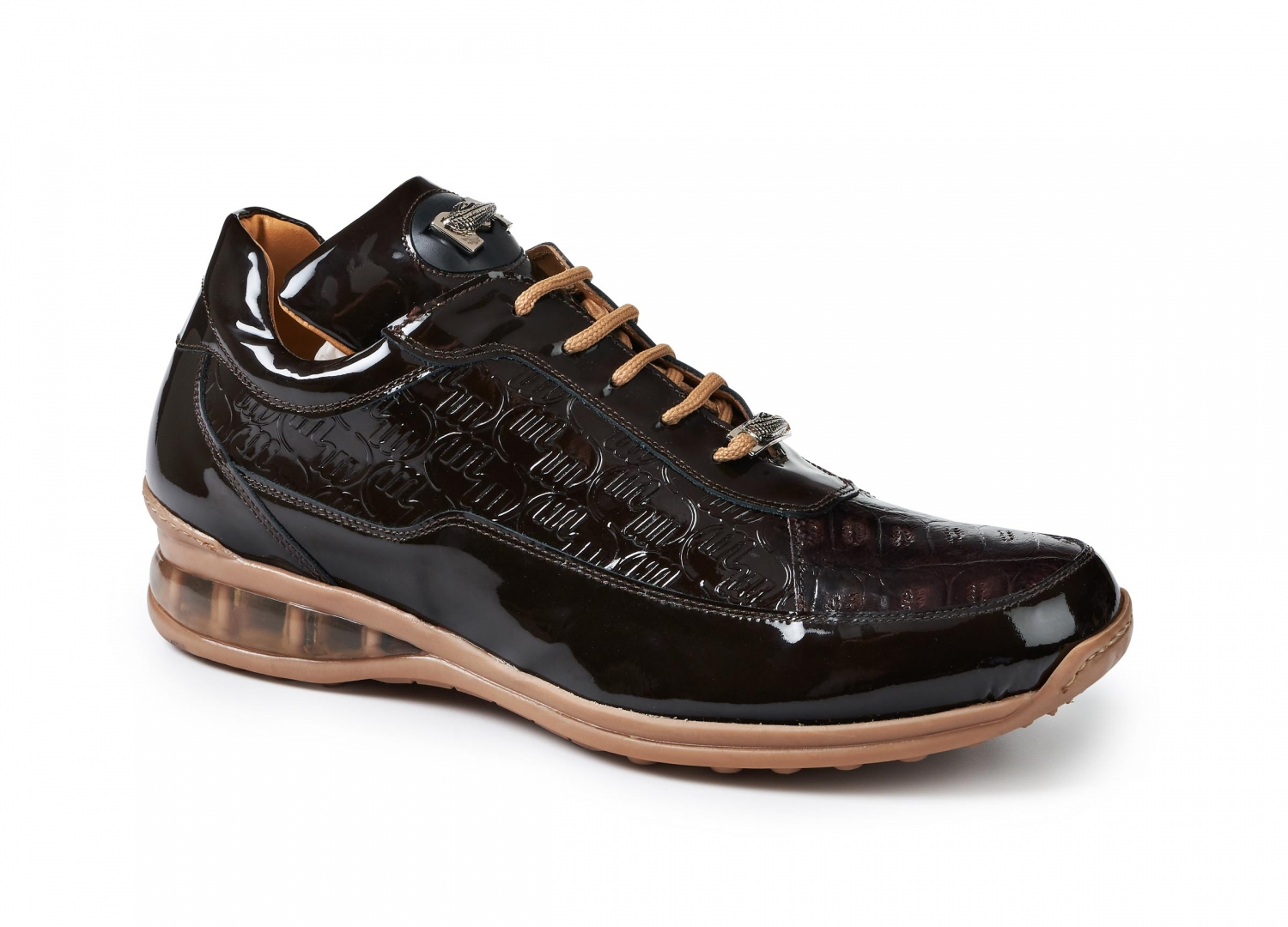 2020 Mauri Bubble Patent Leather Logo Sneaker Brown 8900/2