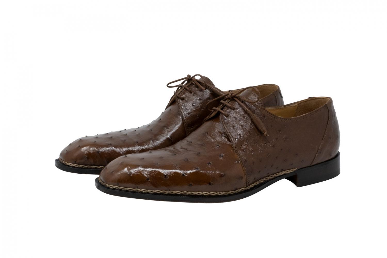 2020 Mauri Boulevard Ostrich Lace Up Shoe Kango Tabac 3038