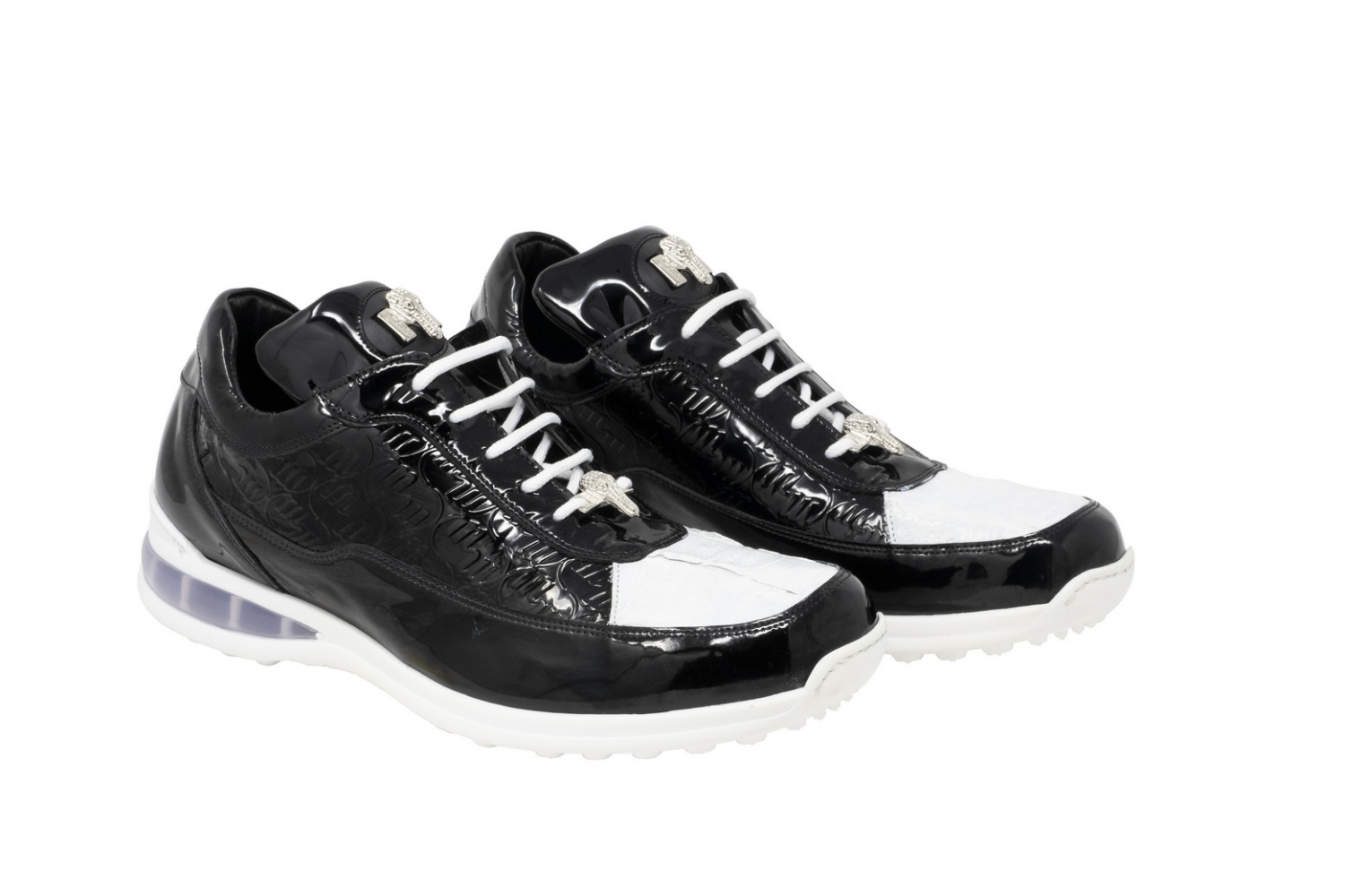2020 Mauri Bubble Patent Leather Logo Sneaker 8900/2 Black White