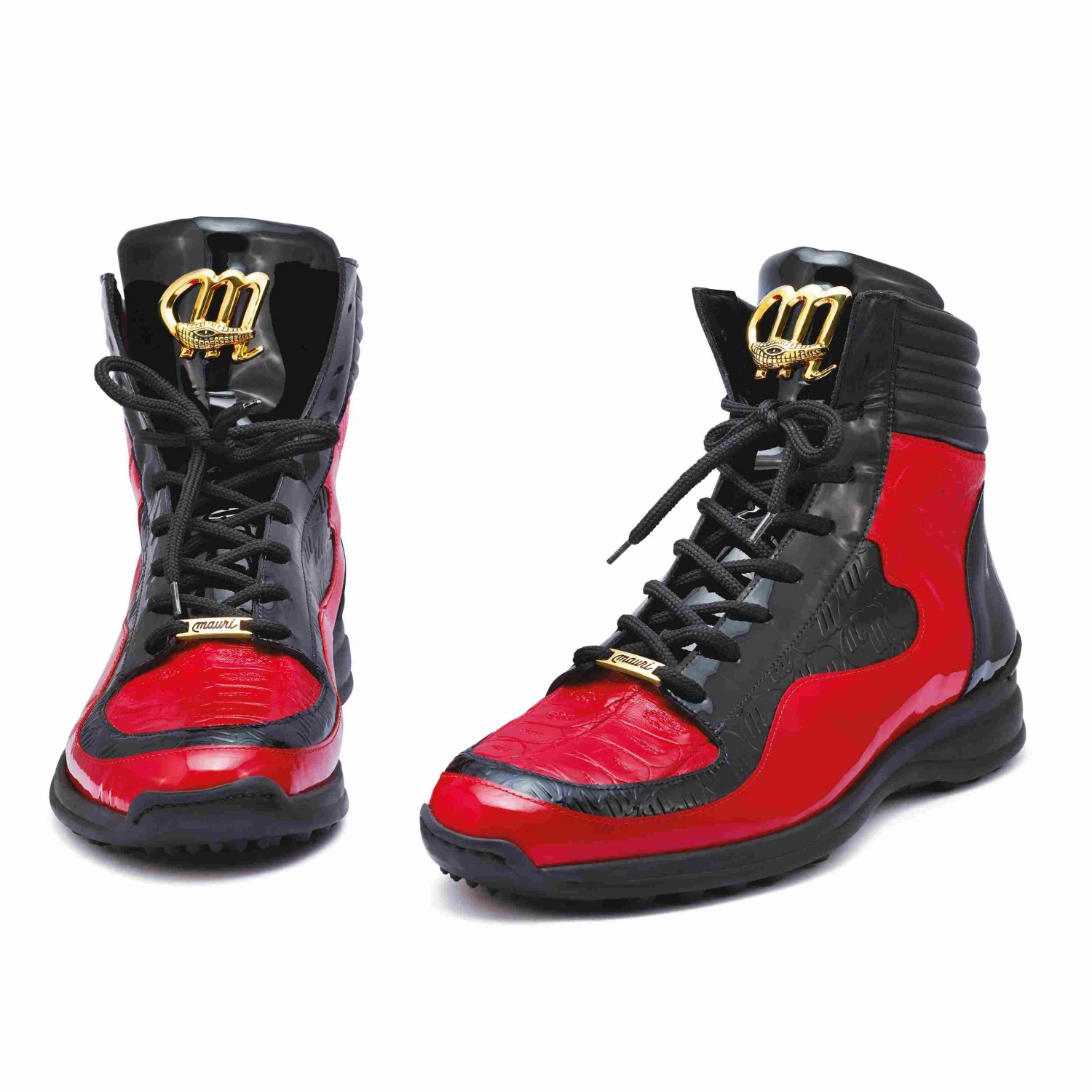2020 Fall Mauri High Top Patent Embossed Leather logo Sneaker 8401