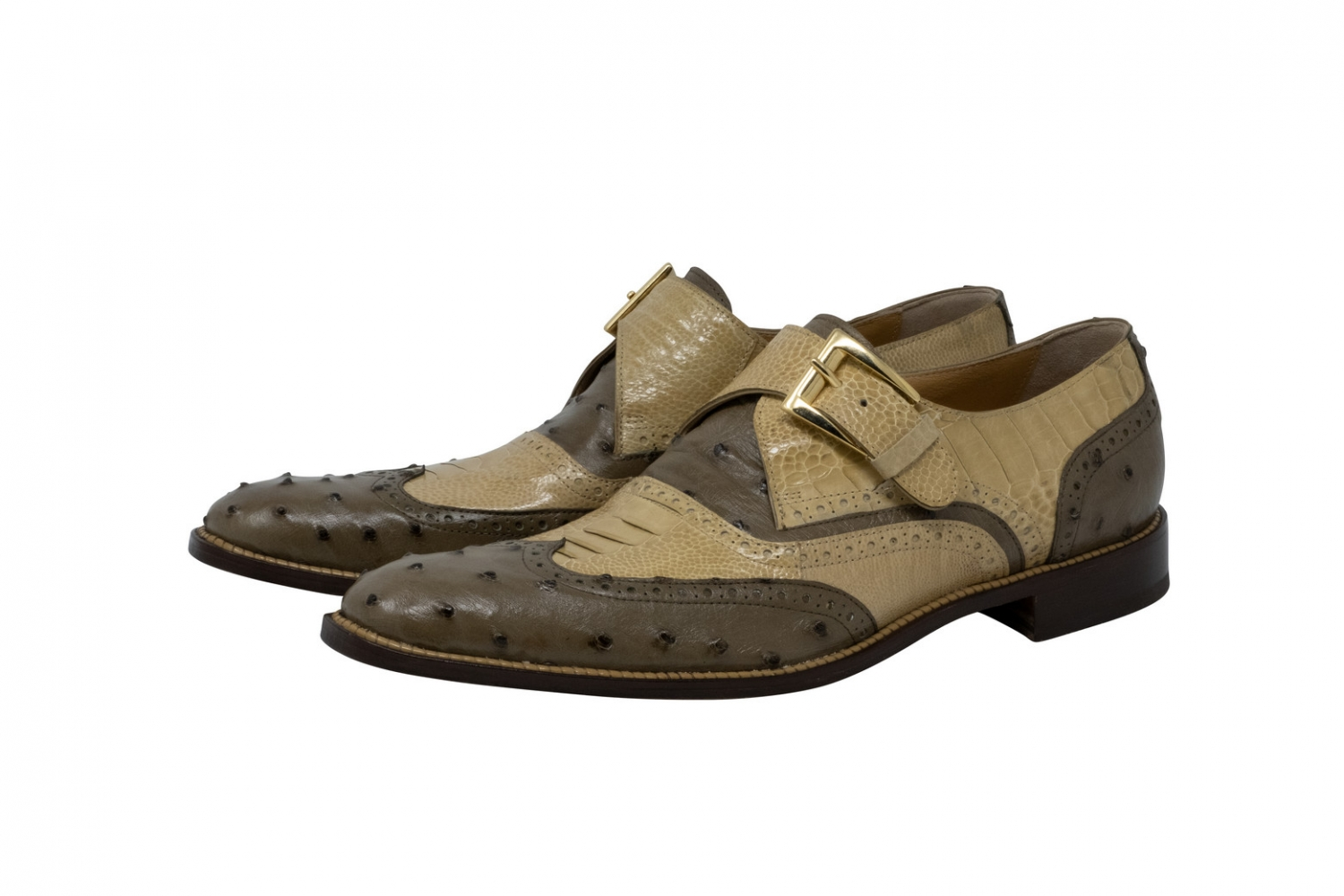 2020 Mauri Corleon Ostrich Single Monk Strap Shoe 3040