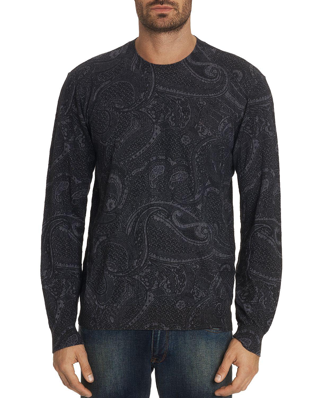 Robert Graham Bonanova Paisley Print Sweater Grey