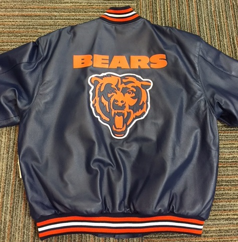 Chicago Bears All Leather Jacket S-6X