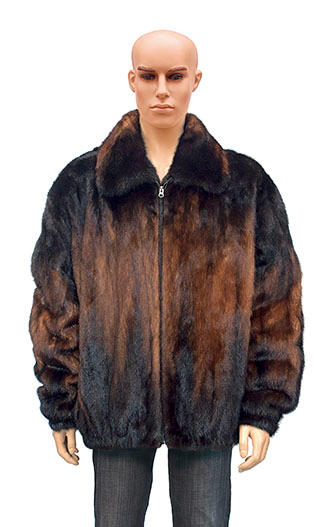 Winter Fur Men's Full Skin Two Shade Mink Jacket  M59R01WKT