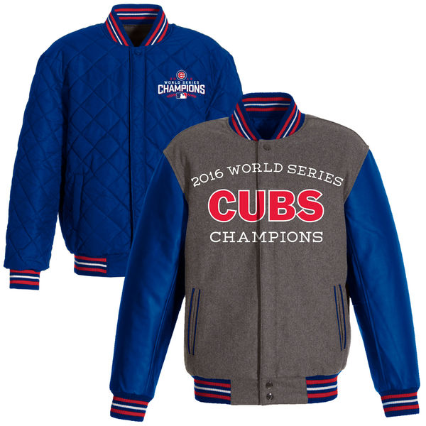 2016 Chicago Cubs Reversible World Series Champions Sleeves Jacket