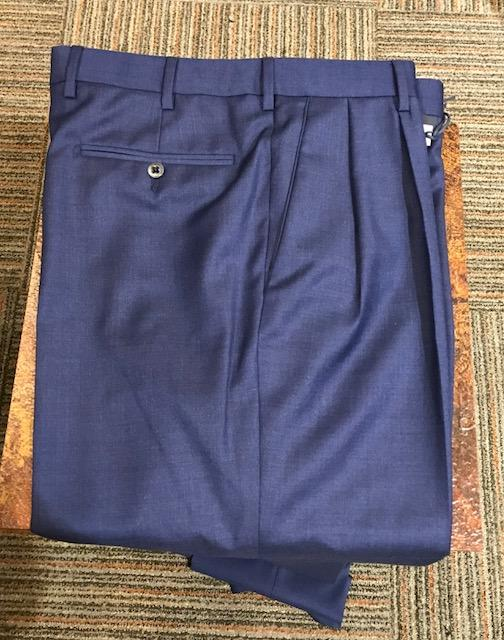Zanella Bennett Double Reverse Pleated Slacks Royal Blue
