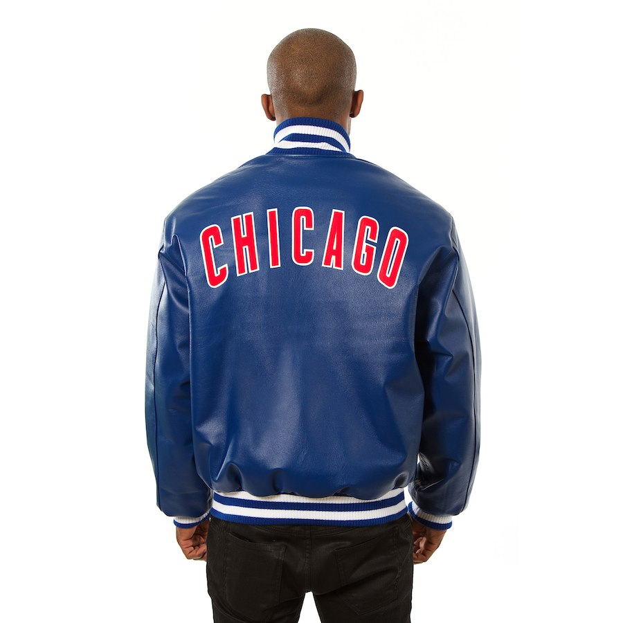 Chicago Cubs JH Design Leather Jacket Royal