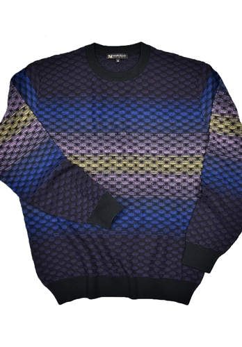 Marcello Crew Neck Knitted Merino Wool Sweater Multi 500