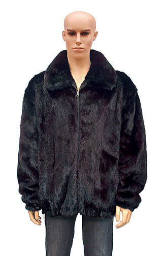 Winter Fur Men's Full Skin Mink Black