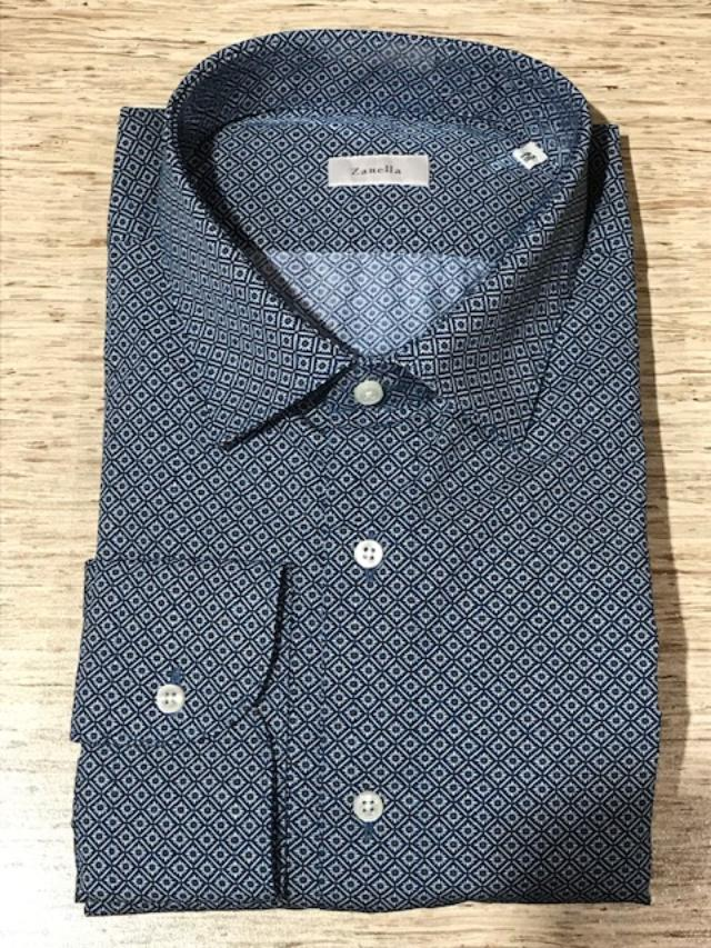 Men's Zanella Modern Fit Dress Shirt Blue