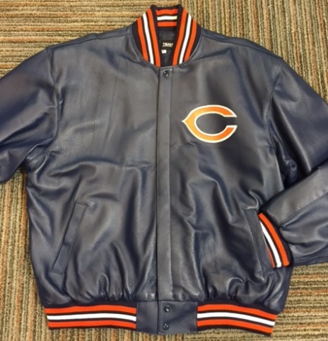 CHICAGO BEARS ALL LEATHER JACKET (4x-5x)