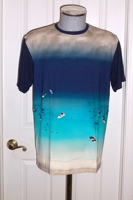 Men's Tarcisio Italy Ocean Blue Tee Shirt