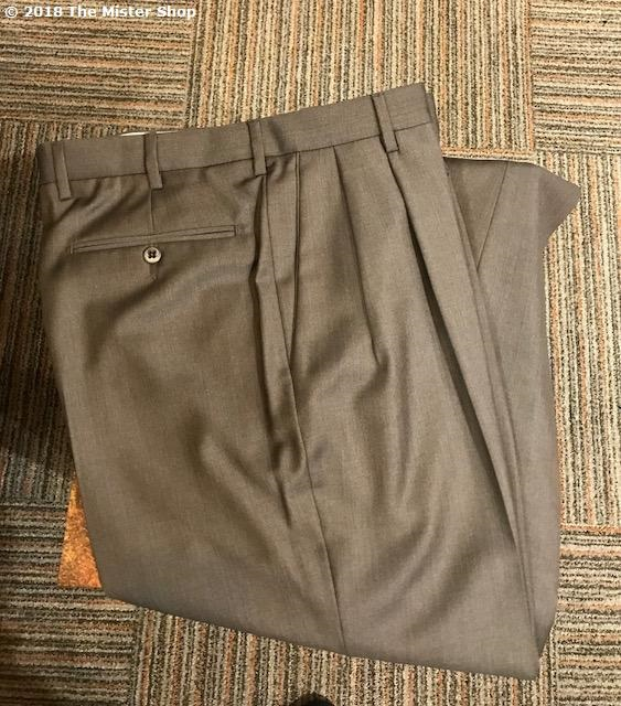 Zanella Bennett Double Reverse Pleated Slacks Dark Taupe