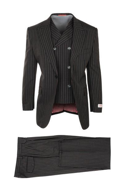 Tiglio San Giovesse Gray Wool Wide Leg Suit TIG100