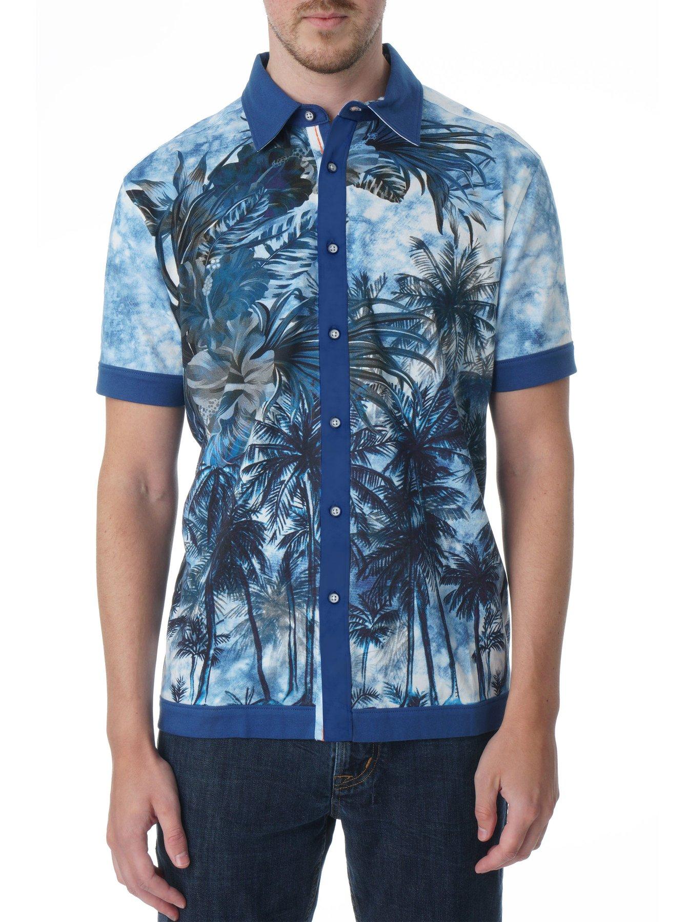 Robert Graham Cantana Short Sleeve Knit Shirt Multi