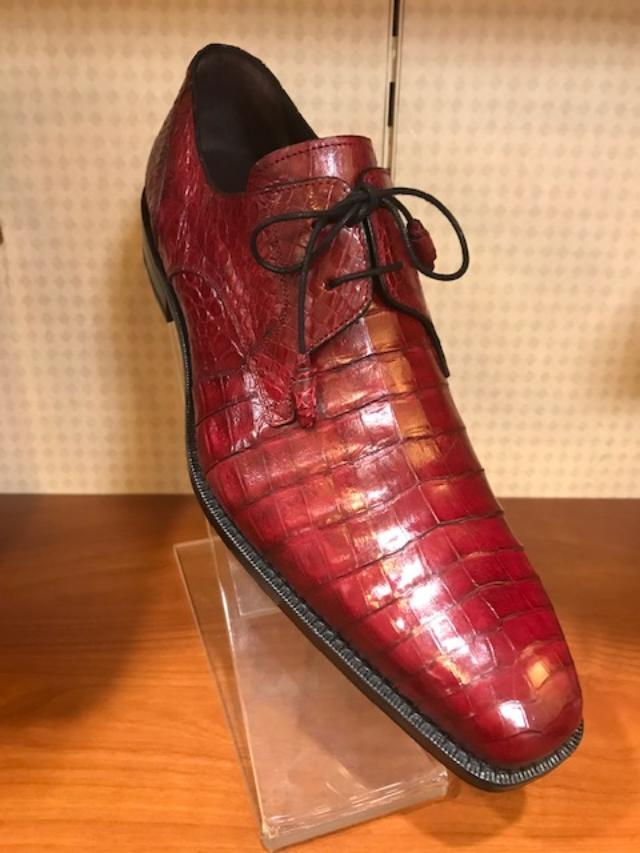 5e6bf831aecd1 Mezlan Mister Shop Exclusive Crocodile Lace Up Shoe Red 13584