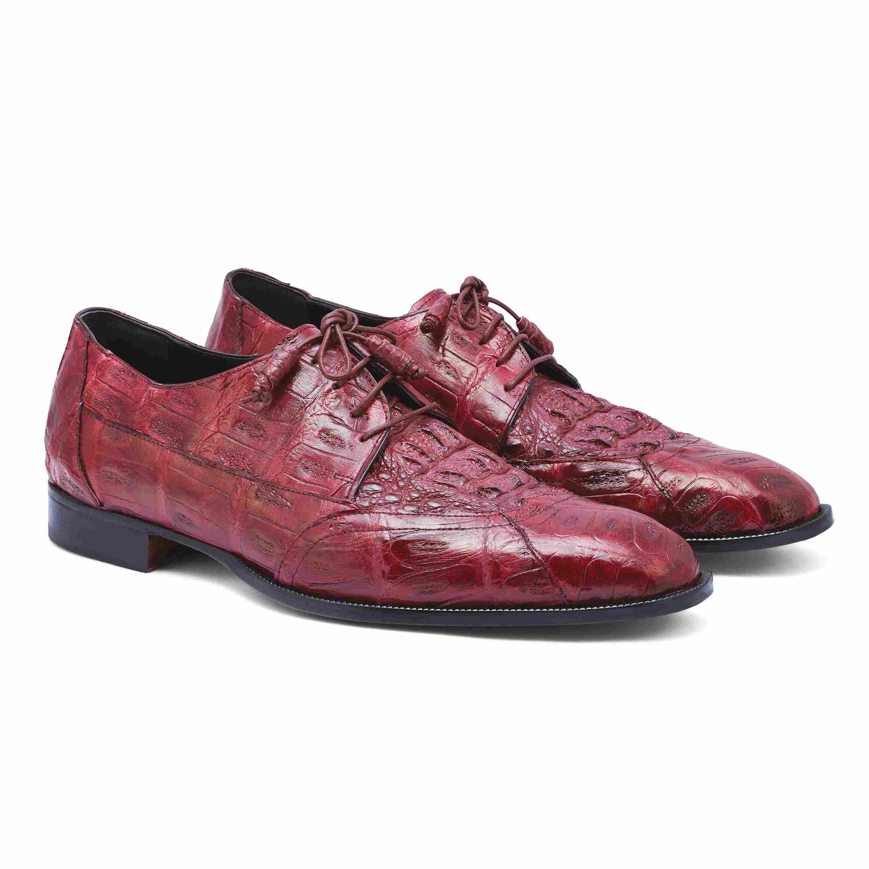2020 FALL MAURI Casino Crocodile Hornback Lace Up Shoe M777