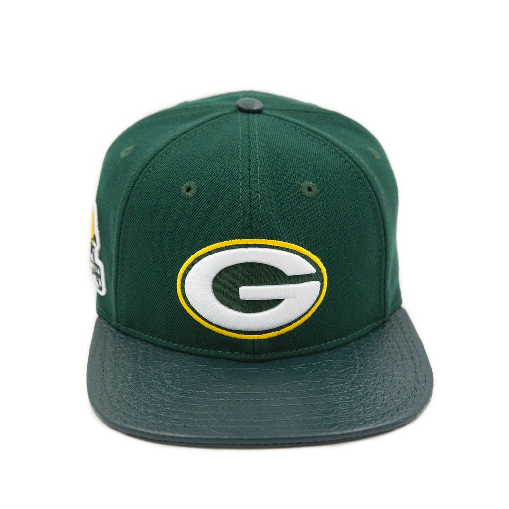 Pro Standard Green Bay Packers Logo Leather Cap
