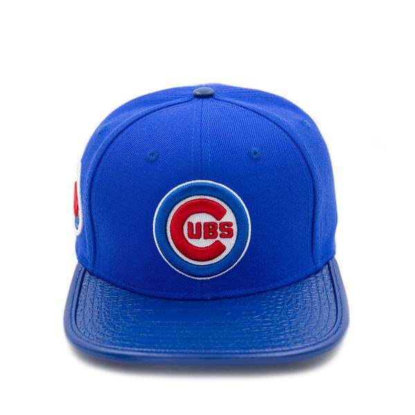 Pro Standard Chicago Cubs Club Logo Leather Strap Back