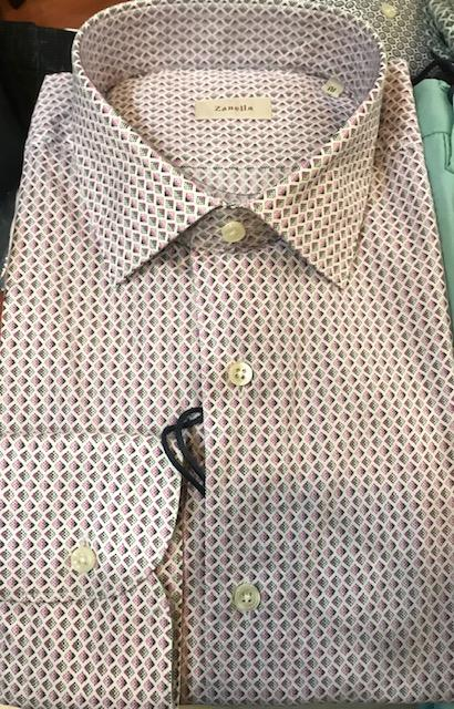 Men's Zanella Modern Fit Dress Shirt Pink