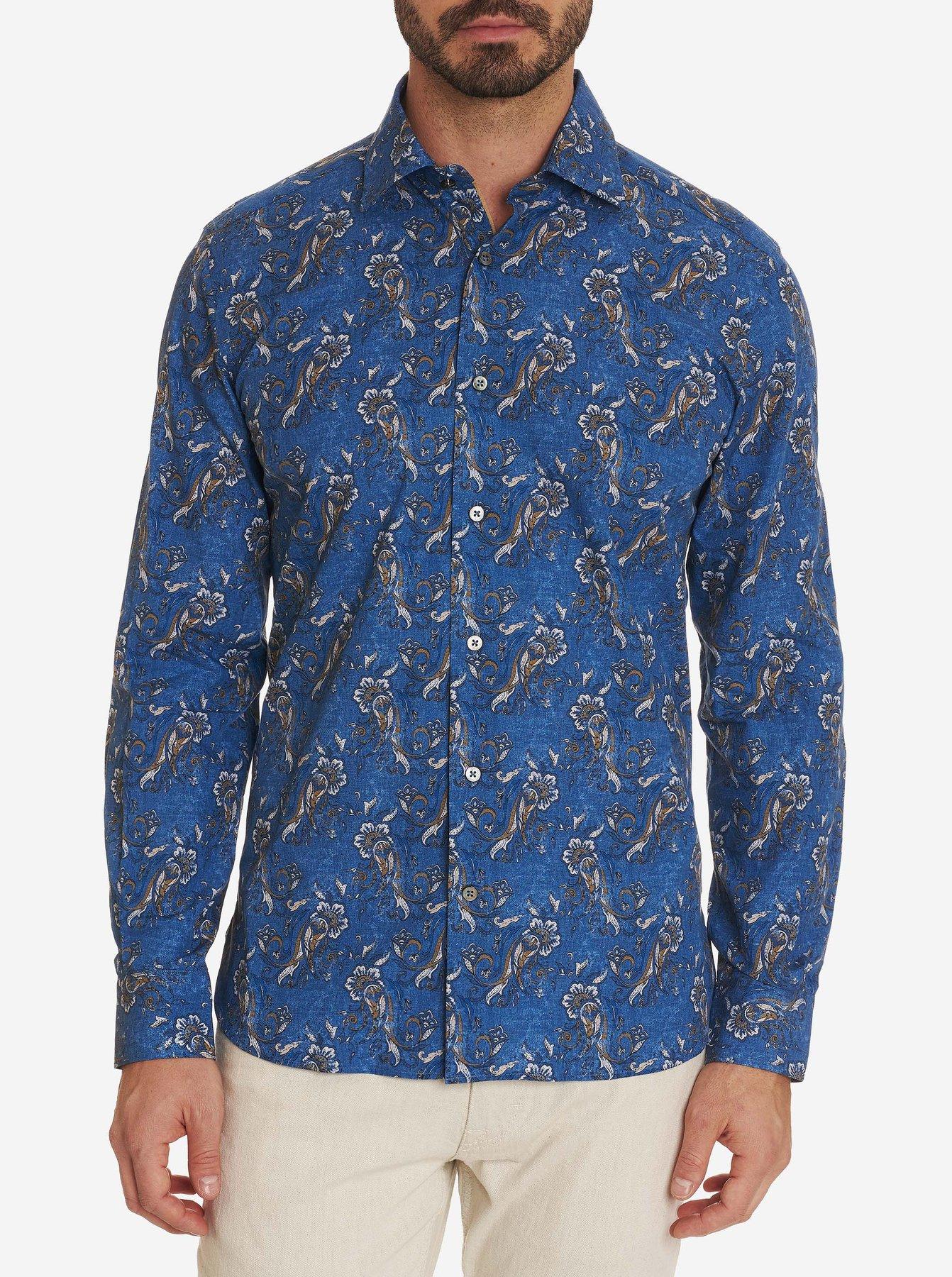 Robert Graham Gambino Sport Shirt Blue
