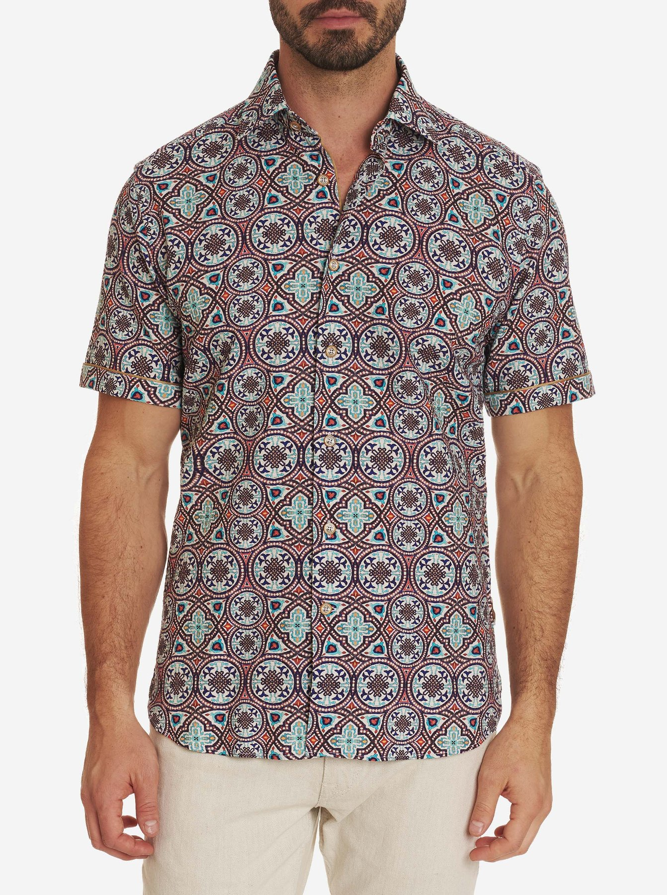 Robert Graham Carbone Short Sleeve Shirt Multi