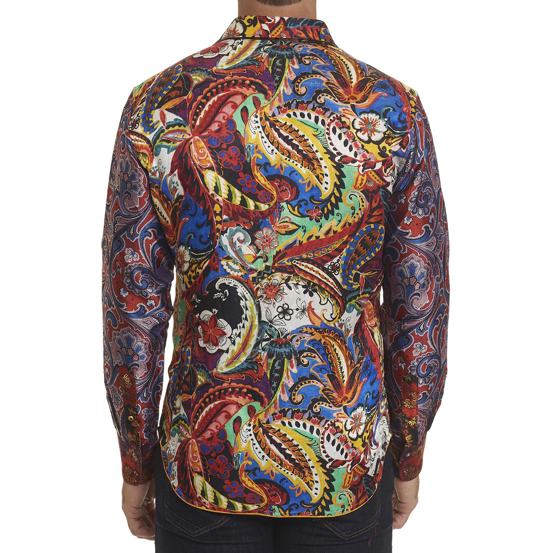 NEW Robert Graham Limited Edition Conway Silk Sport Shirt Multi