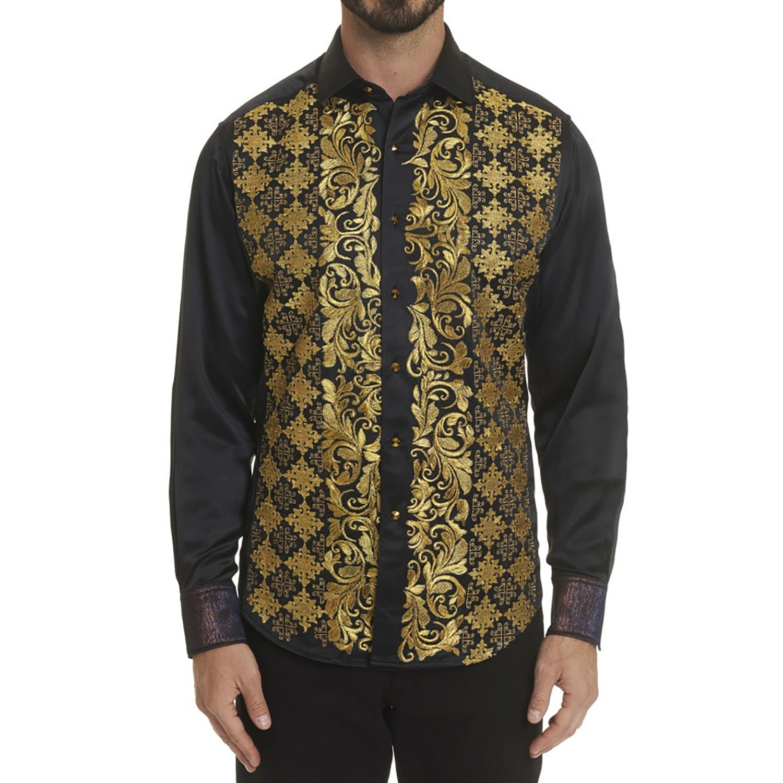 NEW Robert Graham Limited Edition The Karat Perk Sport Shirt Multi