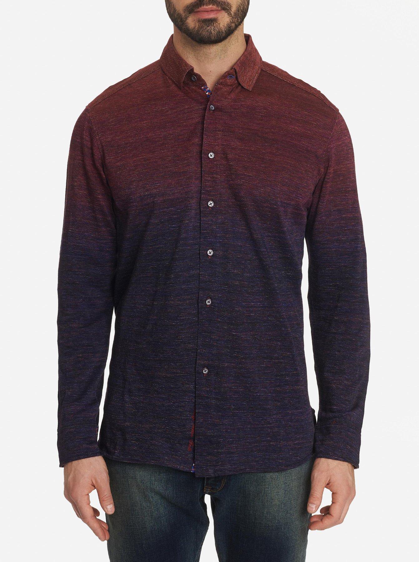 Robert Graham Curtiz Long Sleeve Shirt Knit Berry