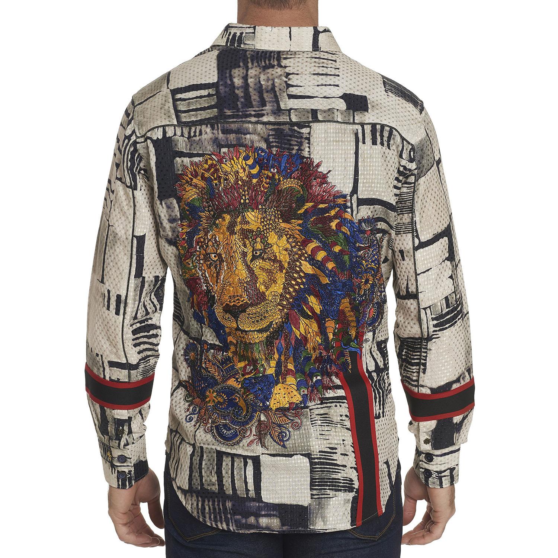 NEW Robert Graham Limited Edition Geo Leo Sport Shirt Multi