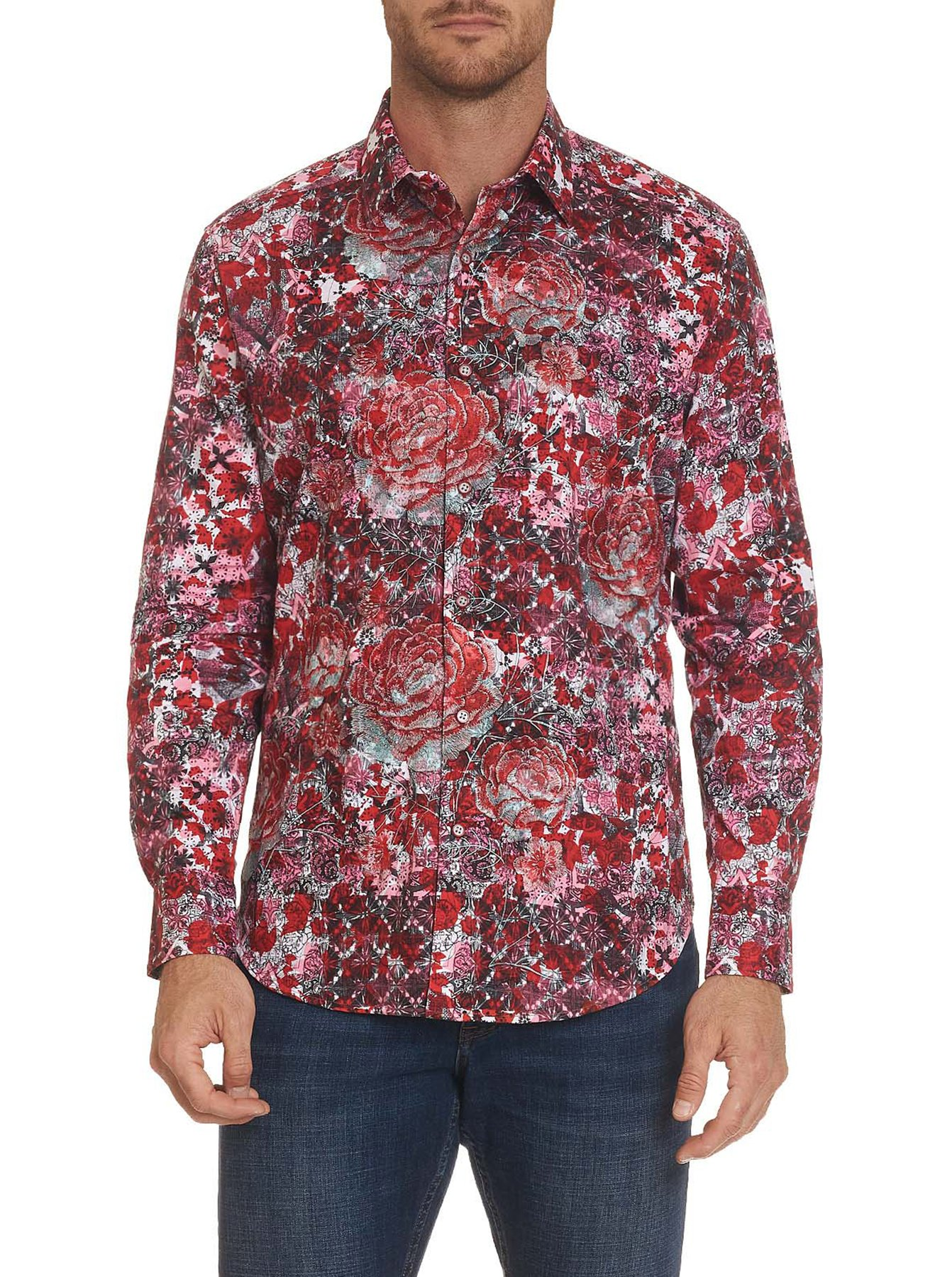 Robert Graham Blood Rose Sport Shirt Red