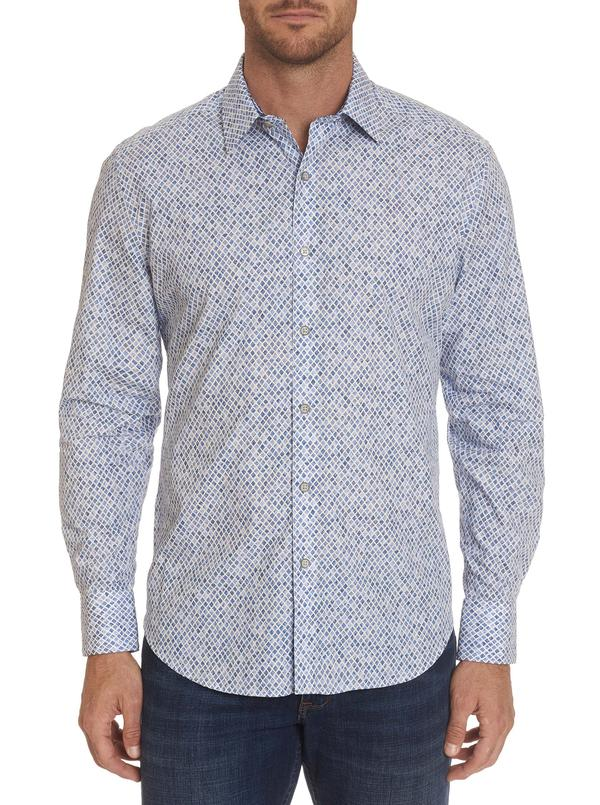 Robert Graham Barton Classic Fit Sport Shirt Blue