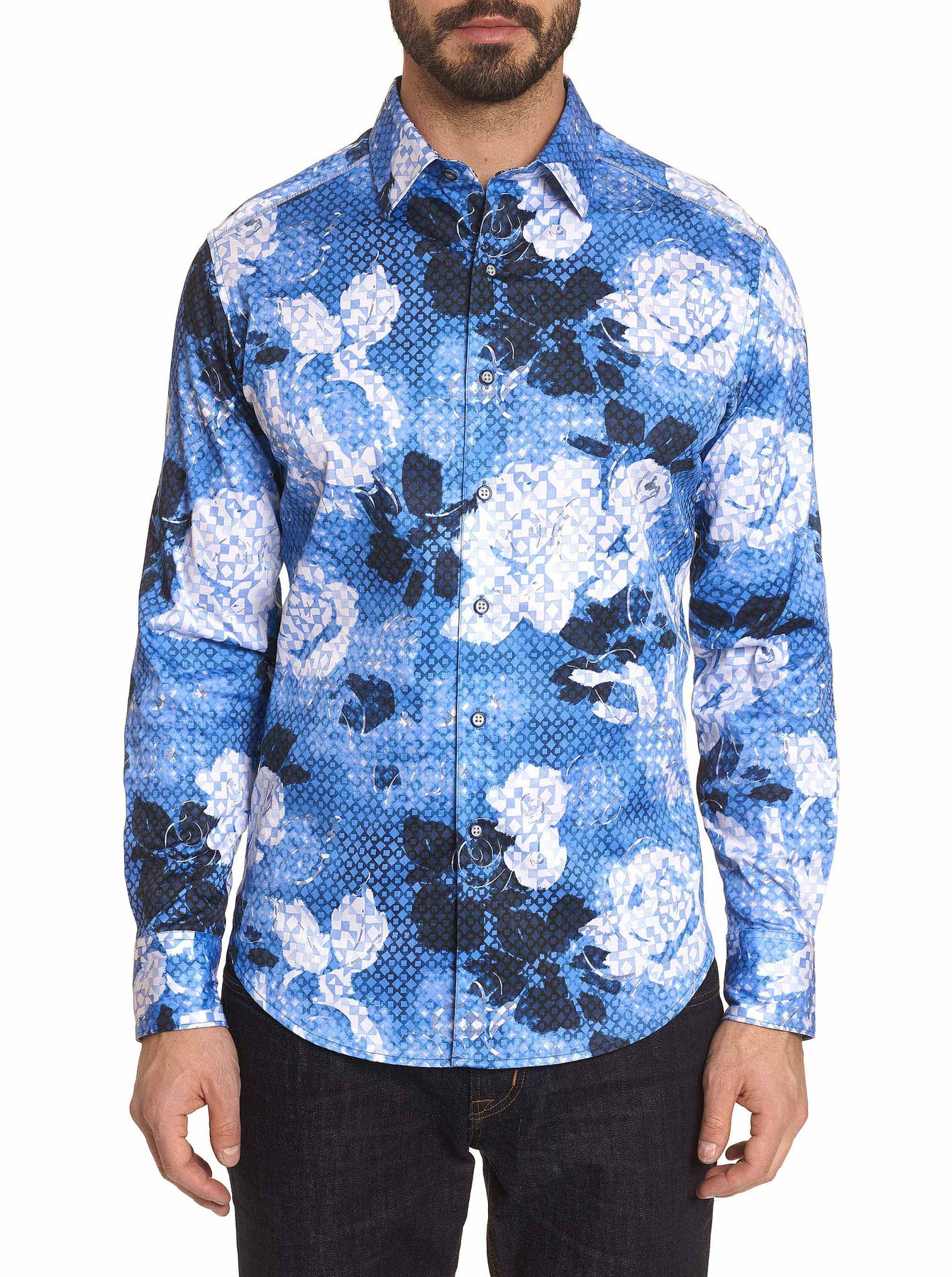 Robert Graham Dark Crystal Sport Shirt Blue