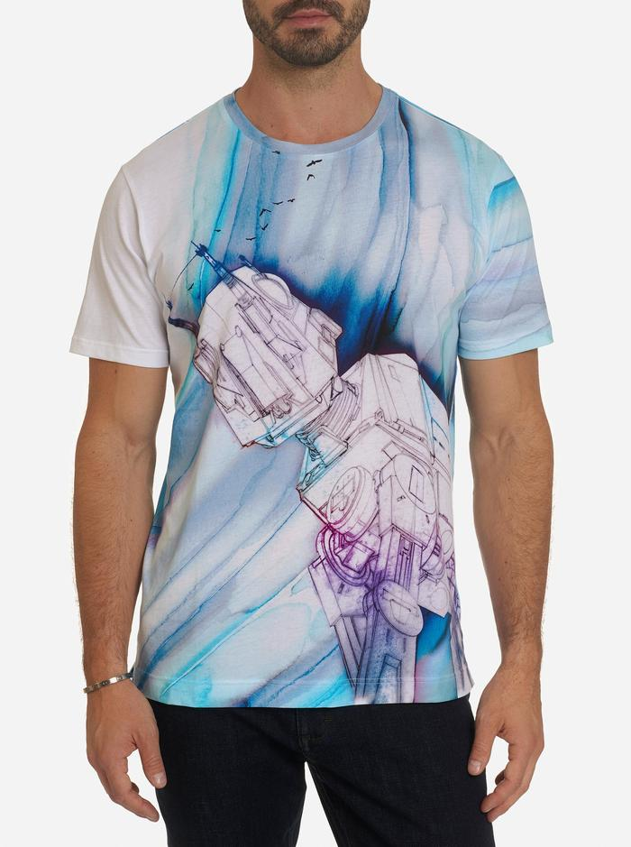 Robert Graham ATAT & Birds printed Star Wars T-Shirt White