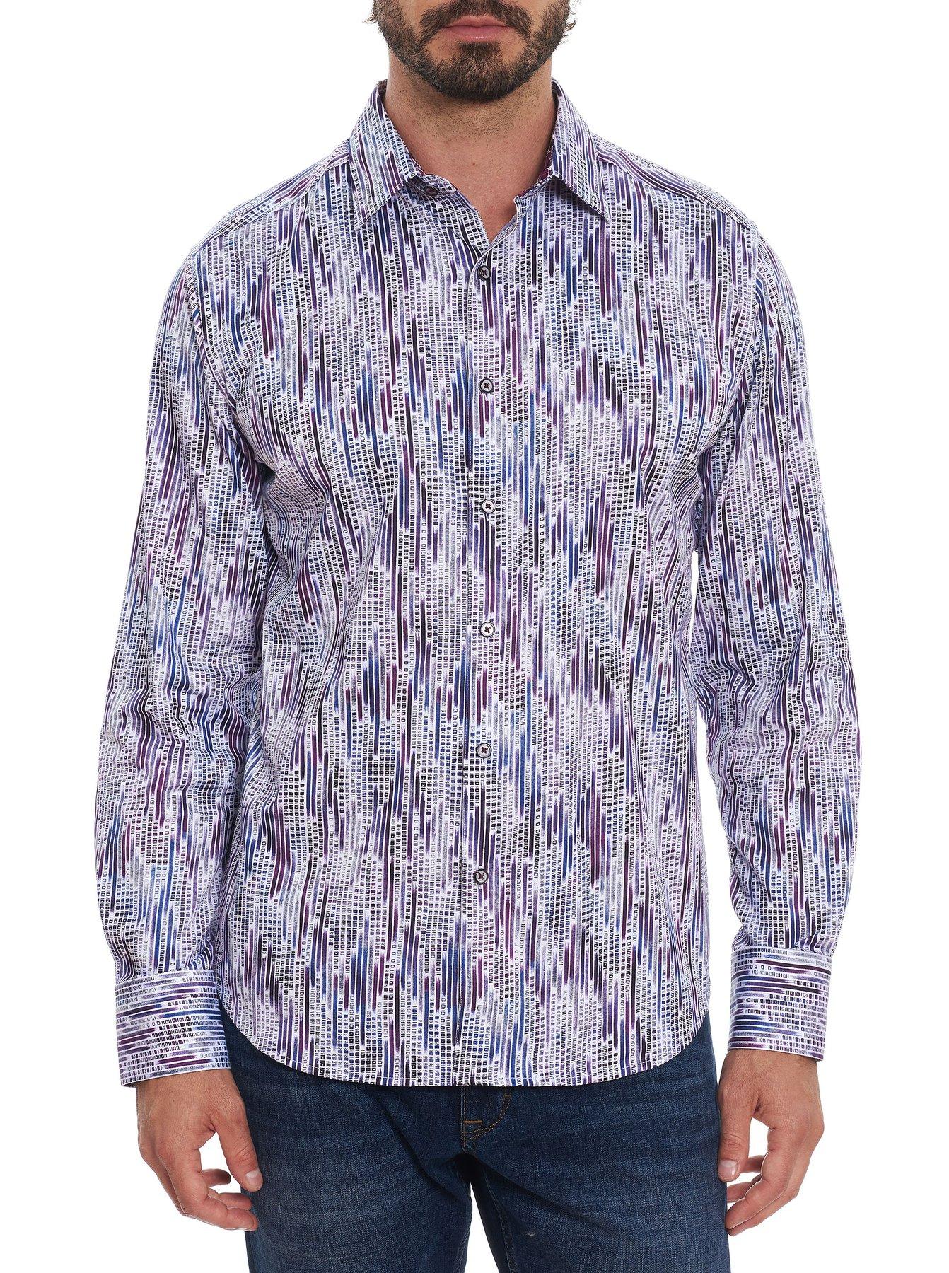 Robert Graham Classic Fit Rivers Sport Shirt Purple