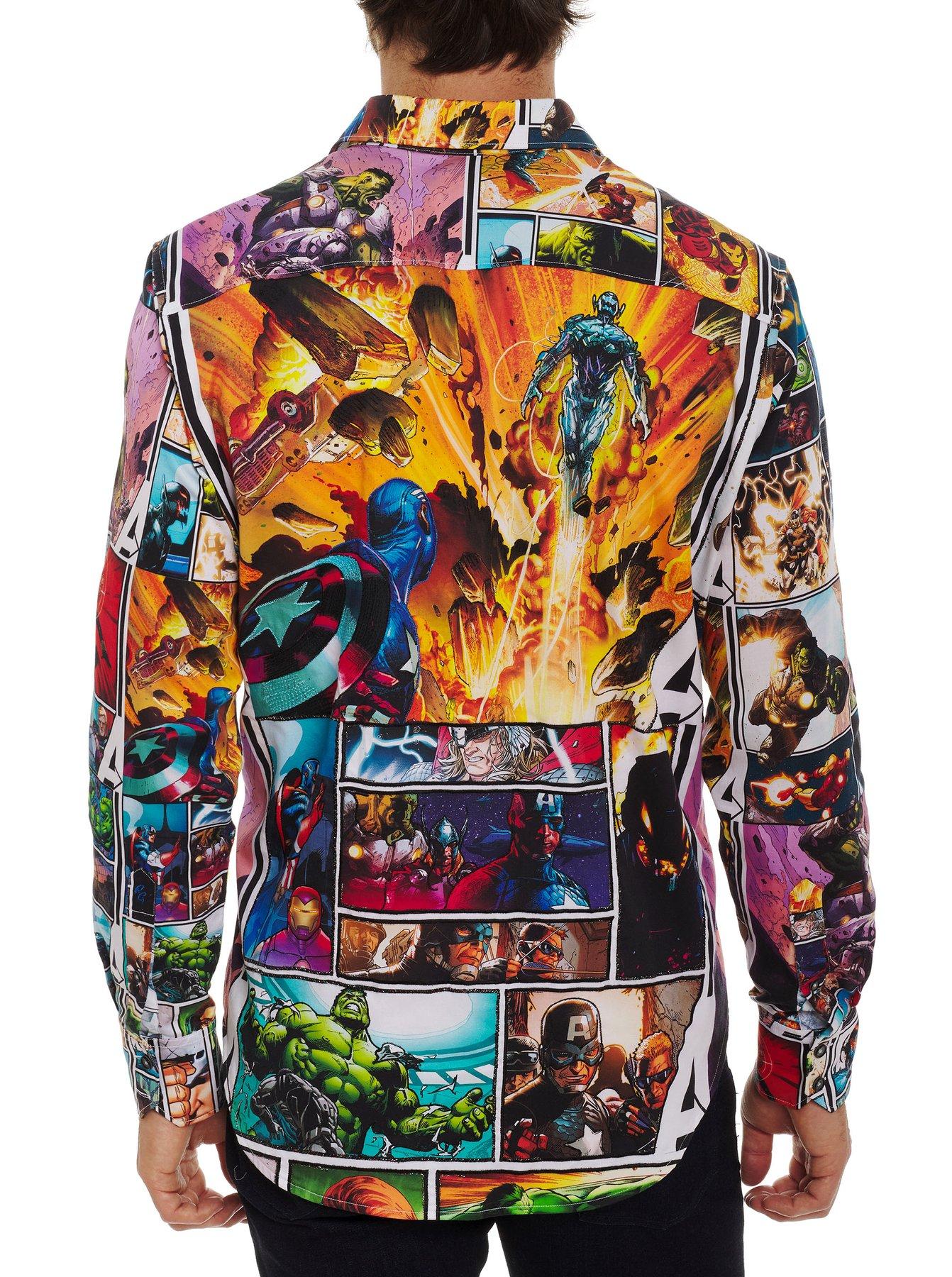 Robert Graham Avengers Unite x Marvel Sport Shirt