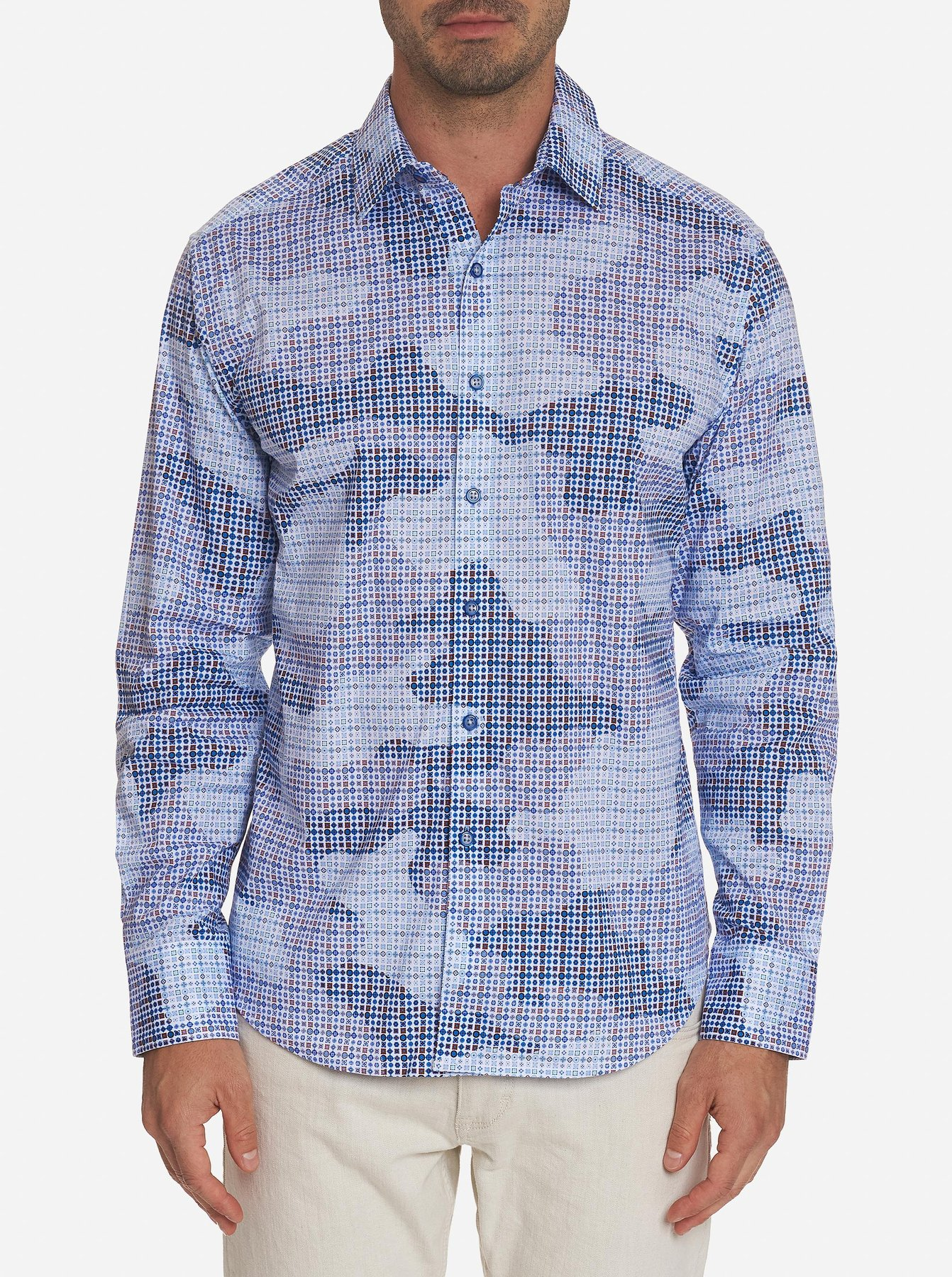 Robert Graham Courageous Sport Shirt Blue stock