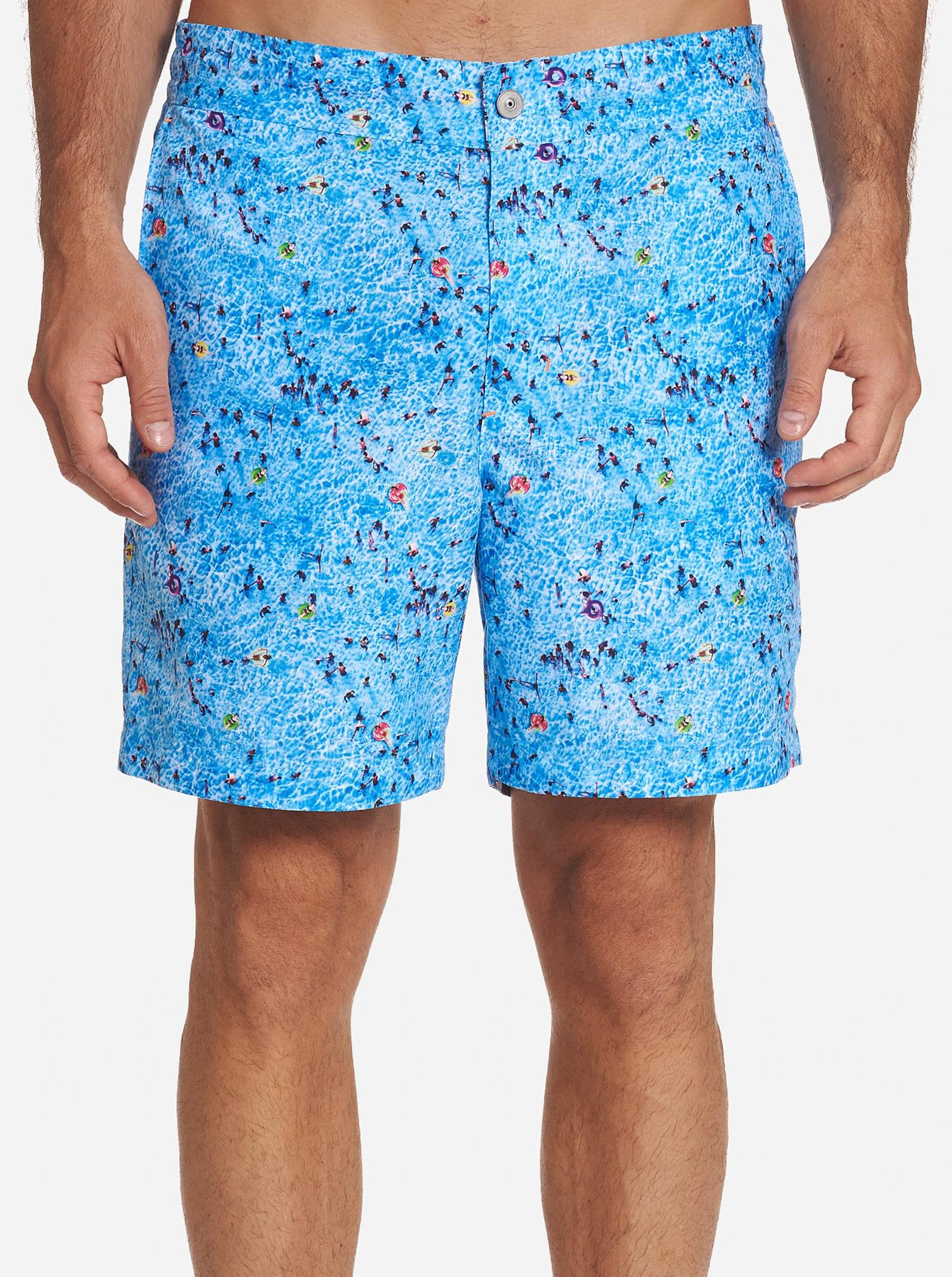 Robert Graham Big Blue Swim Trunk Shorts Sky