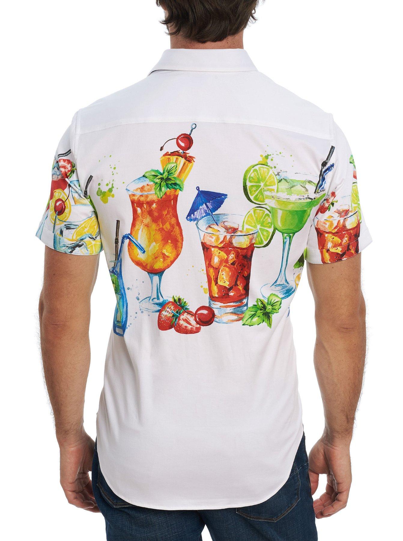 Robert Graham Cocktail Party Short Sleeve Shirt White