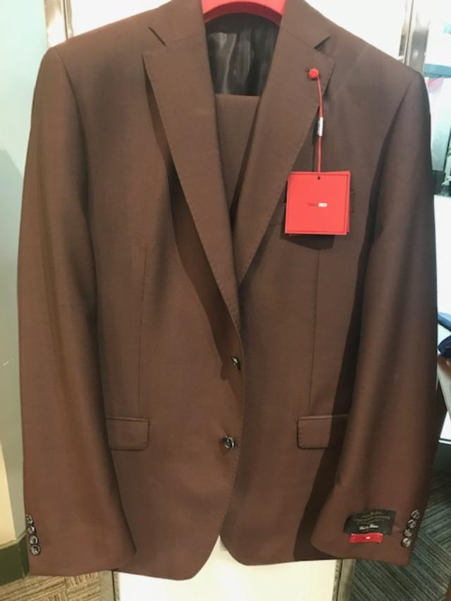 Peerless Tailor Red Classic Suit Wine