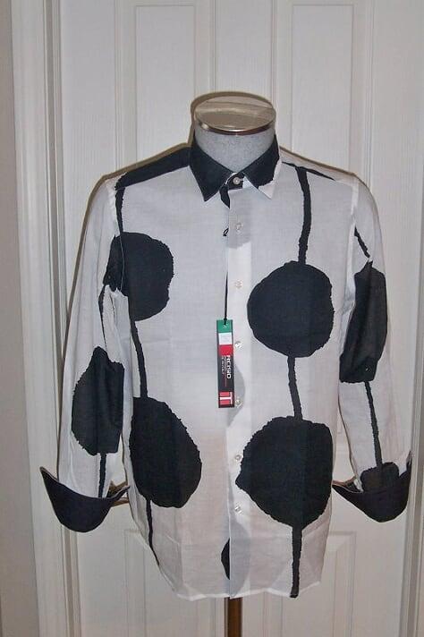 Men's Tarcisio Paciocco Italy Sport Shirt White