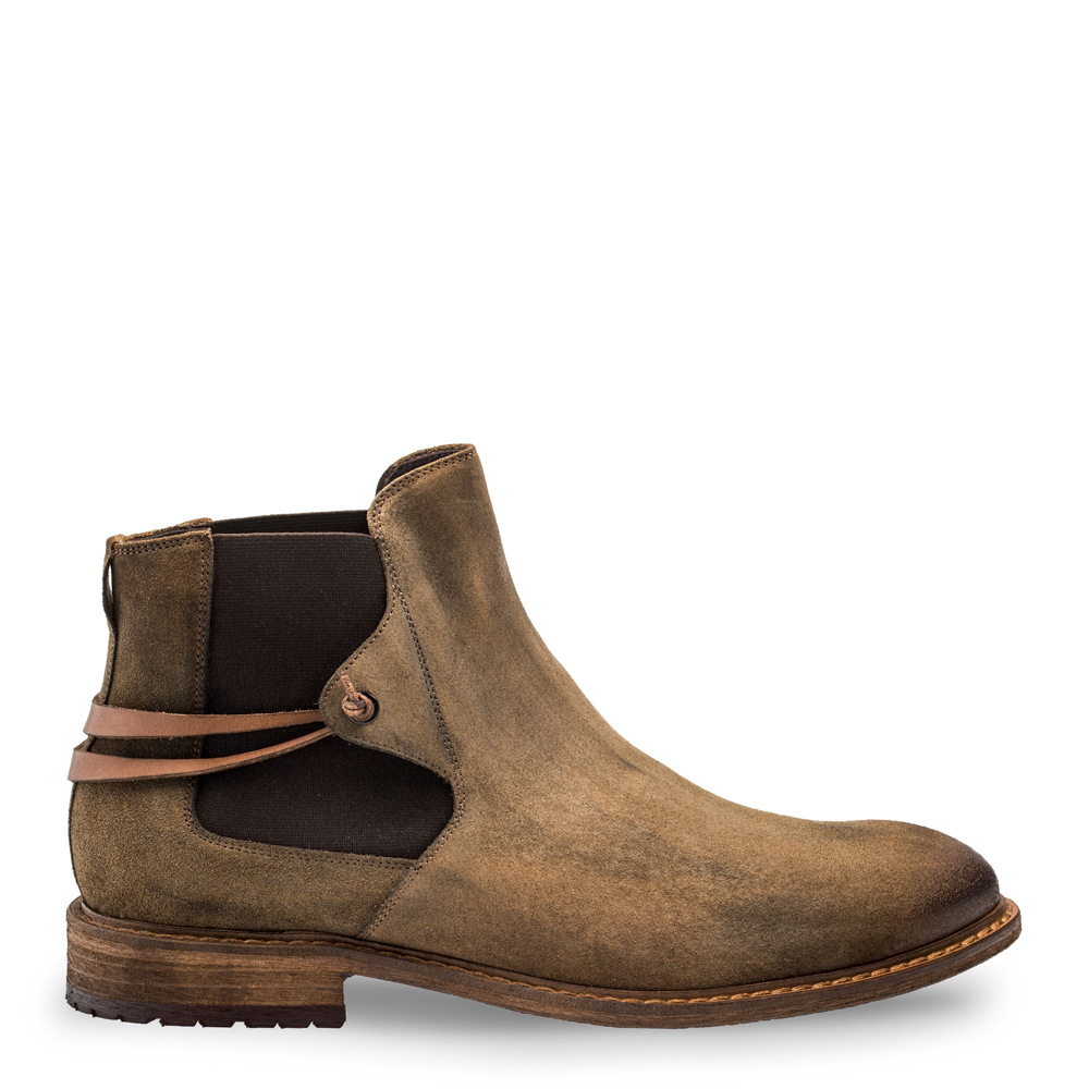 Bacco Bucci Emblid Suede Chelsea Boots Tan 4229-46