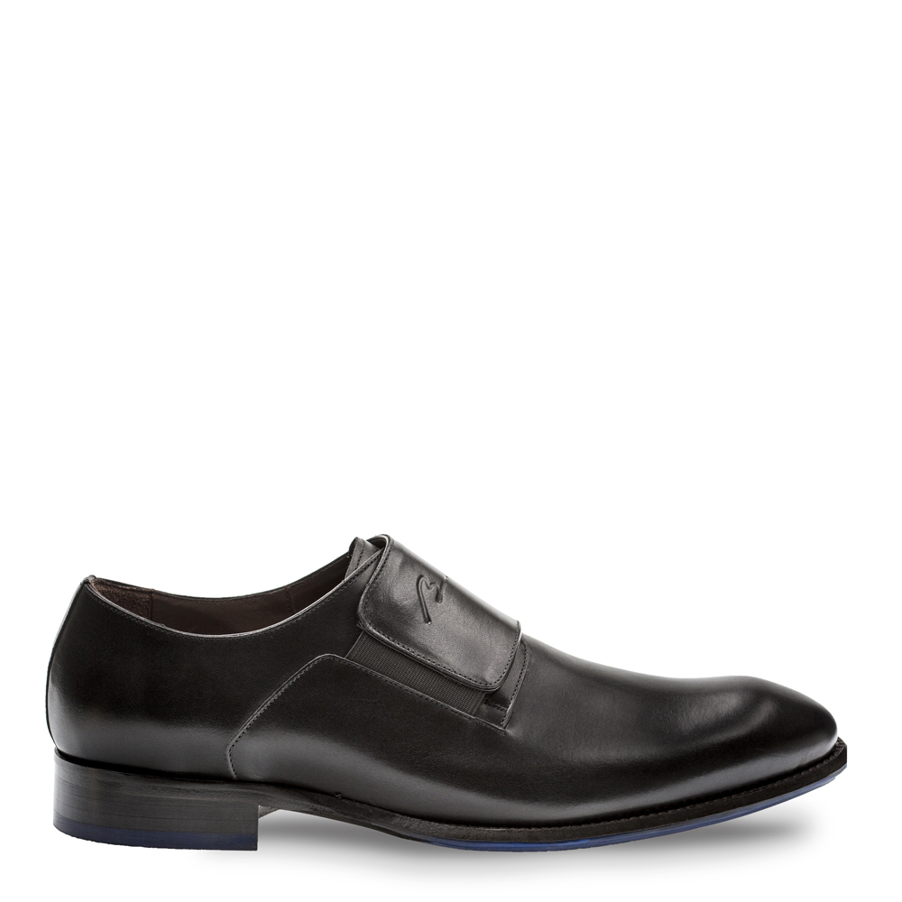 Bacco Bucci Parish Calfskin Plain Toe Slip On Black 4233-87