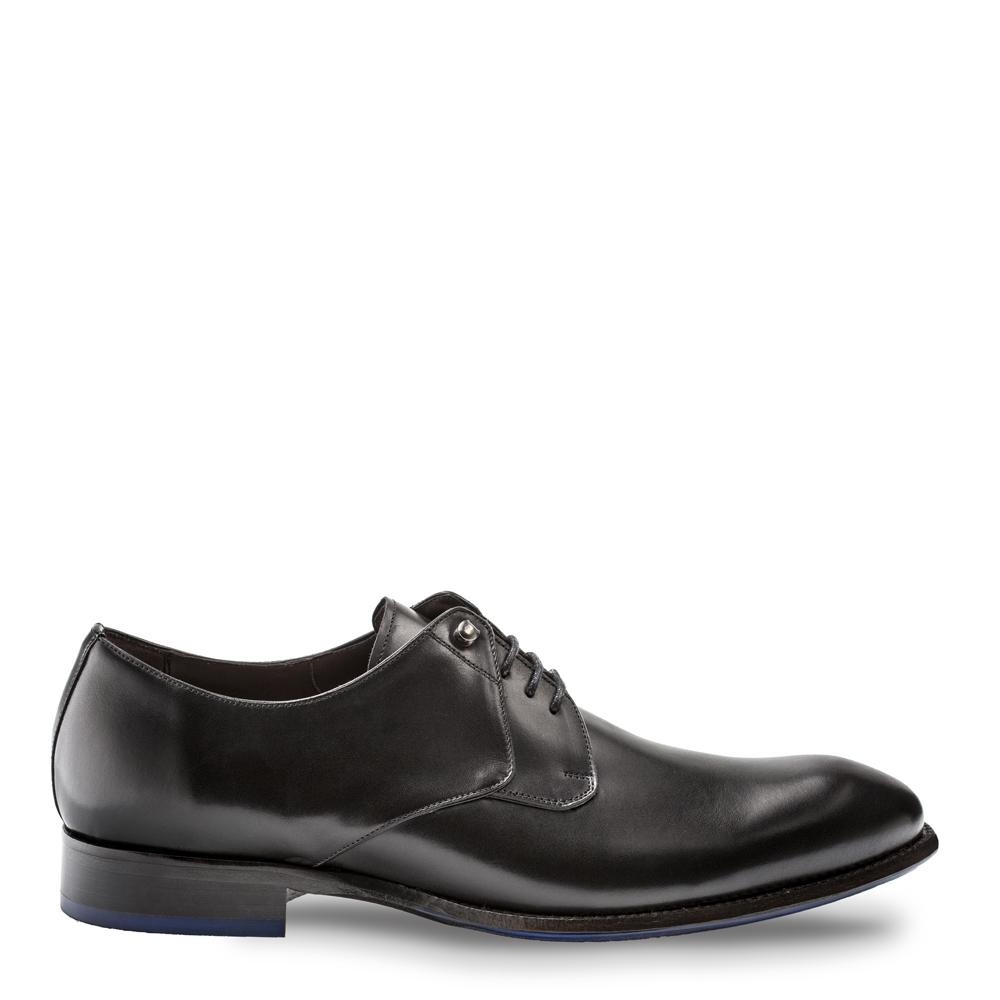 Bacco Bucci Kidd Calfskin Plain Toe Lace Up Shoe Black 4234-87
