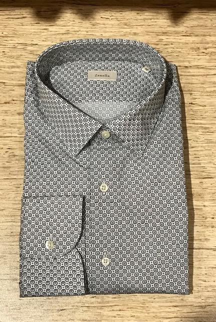 2019 Men's Zanella Modern Fit Dress Shirt Black