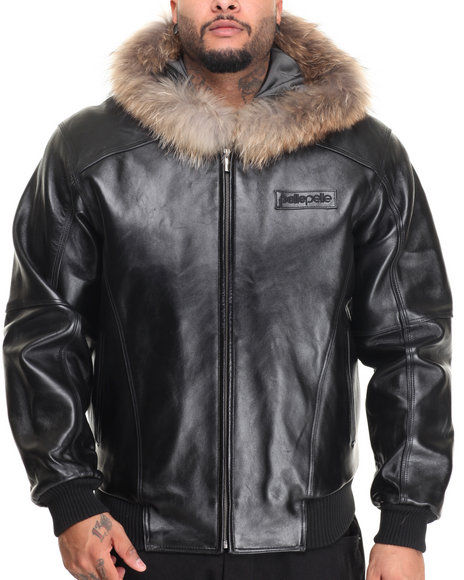 Pelle Pelle Fall 2018 Men's Basic Hood Leather Jacket 21620H