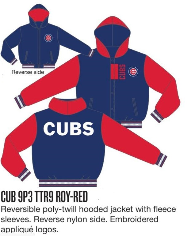 Chicago Cubs JH Design Wool Reversible Jacket